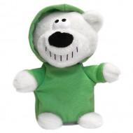 Говорящий медведь Диджей (зеленый)